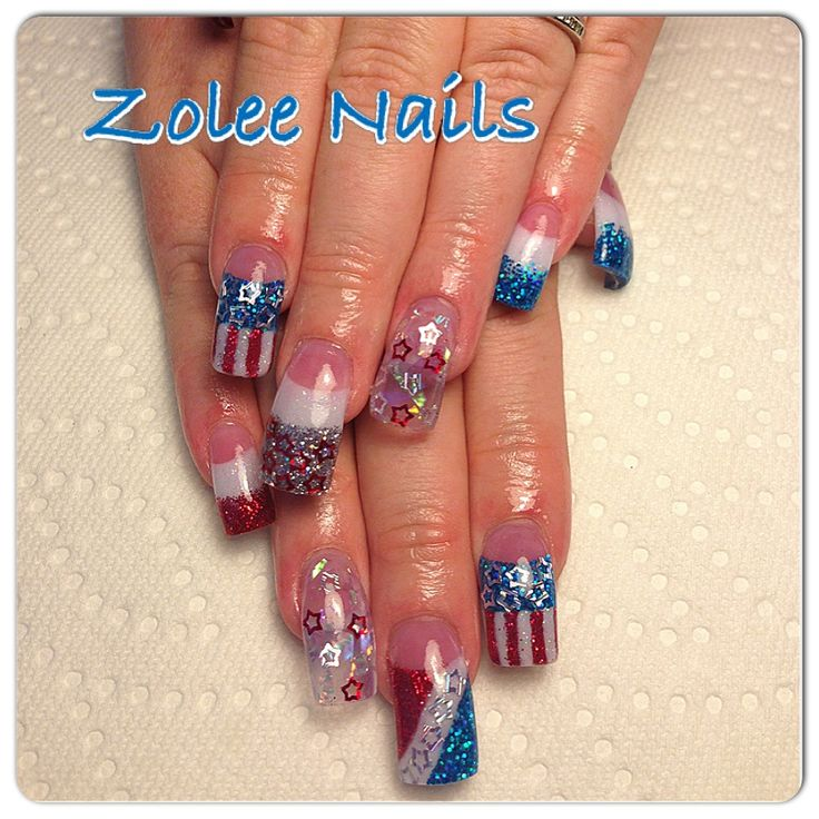 4th of july acrylic nail designs