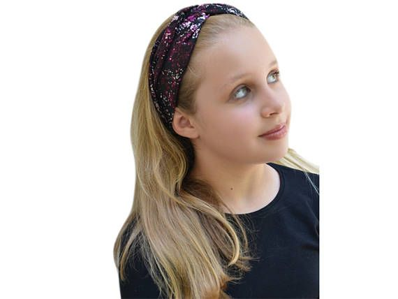 Knotted Floral Headband - Twisted Headband - Floral Headband Boho  - Boho Wide Headband - Adult Knot Headband - Hipster Headband