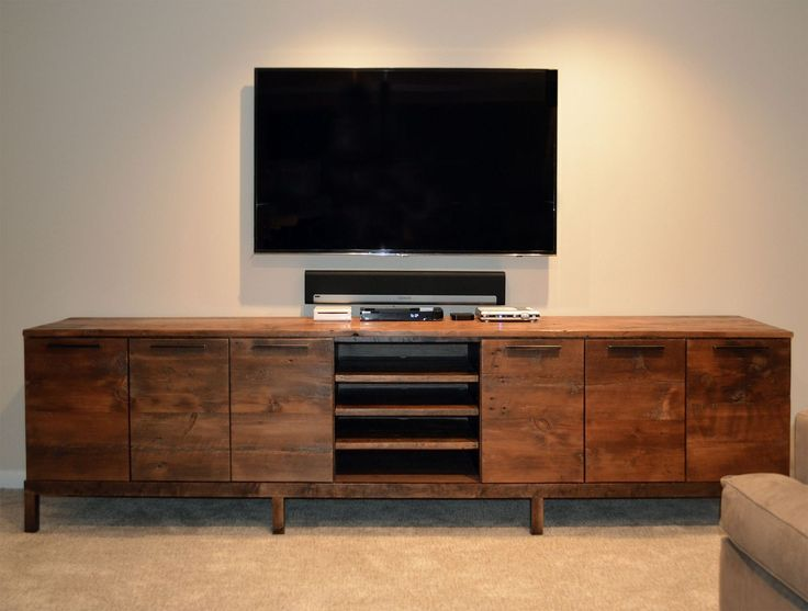 Custom Made Reclaimed Wood Media Center Console