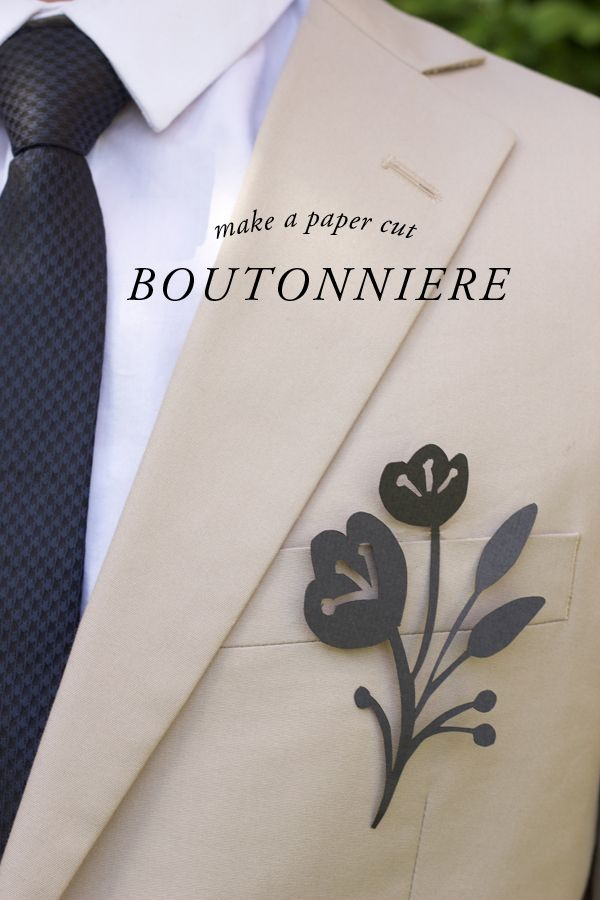 DIY: mod paper cut boutonniere with this handy how-to