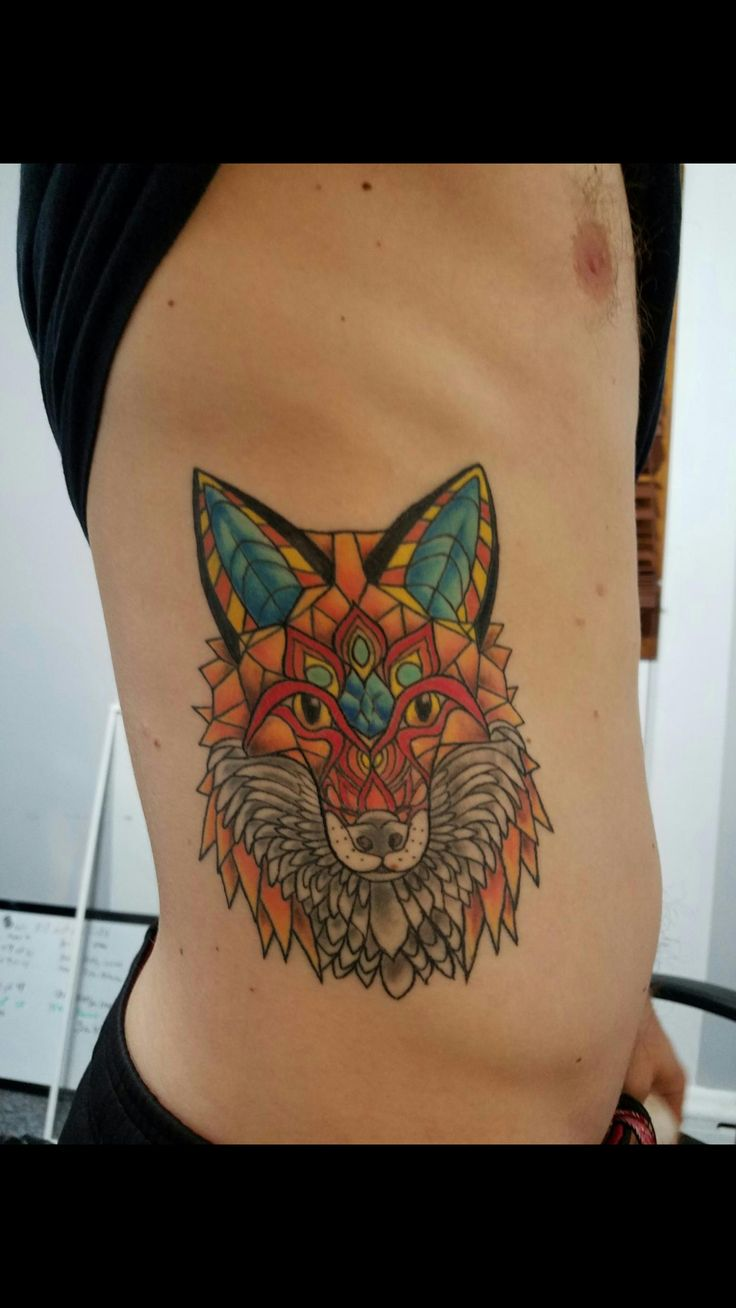 Electric forest fox by Khita Knight at Arboreal Ink in Buffalo ny