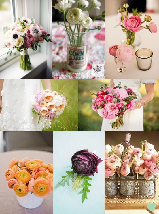 Spring Ranunculus Wedding Flowers - Moody Monday - The Wedding Community Blog