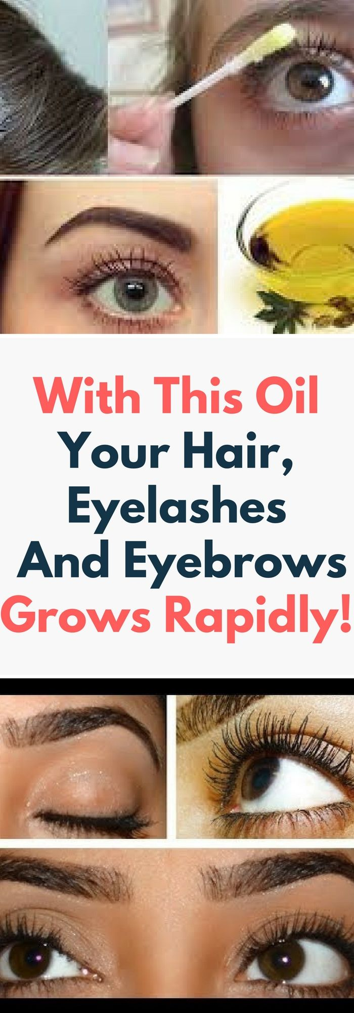 With This Oil Your Hair, Eyelashes And Eyebrows Grows Rapidly.. Need to know.!