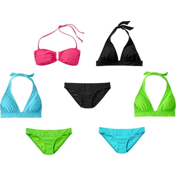 Mix & Match Old Navy Swimwear, created by cosmo70 on Polyvore. I love getting a new look each time I put these on!: New Looks, Mix Match, Style, Cosmo70, Polyvore, Old Navy