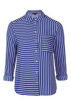 Mix Panel Stripe Shirt