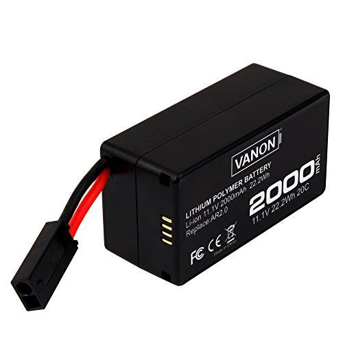 Upgrade 2000mAh 11.1v Li-ion Replacement Battery for Parrot AR.Drone 2.0 - http://www.dronefreeapps.com/product/upgrade-2000mah-11-1v-li-ion-replacement-battery-for-parrot-ar-drone-2-0/