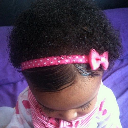 black baby girls short hairstyle with a headband