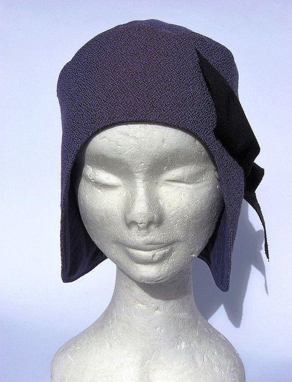 Berretto cappello aviatore viola stylisch vintage di Janecolori