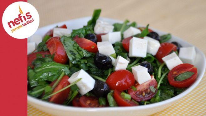 Roka Salatası Tarifi - roka salatası nasıl yapılır ? roka salatası tarifi videolu, roka salatası yapılışı, roka salatası yapımı, malzemeler ve diğer binlerce pratik yemek tarifleri