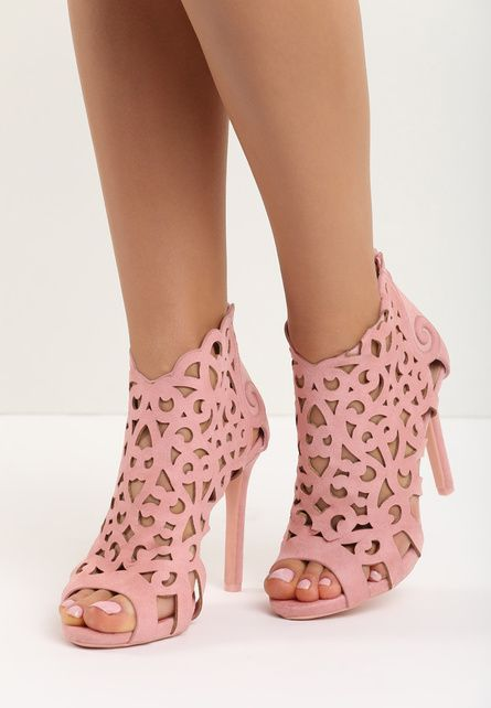 Sandale cu toc Petrina Roz