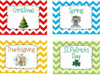 This packet is FULL of chevron labels!Includes:*Classroom Labels (Furniture)*Direction Labels *40 General Supply Labels*9 Holiday Labels *4 ...