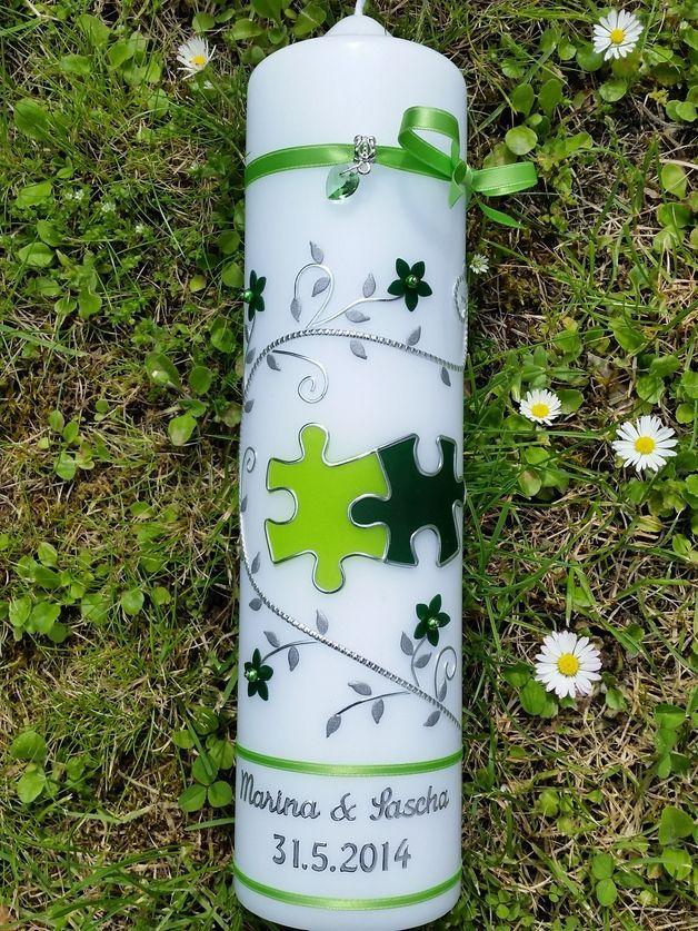 Hochzeitskerzen & Beleuchtung - Hochzeitskerze - ein Designerstück von Manus-Kerzenzauber bei DaWanda