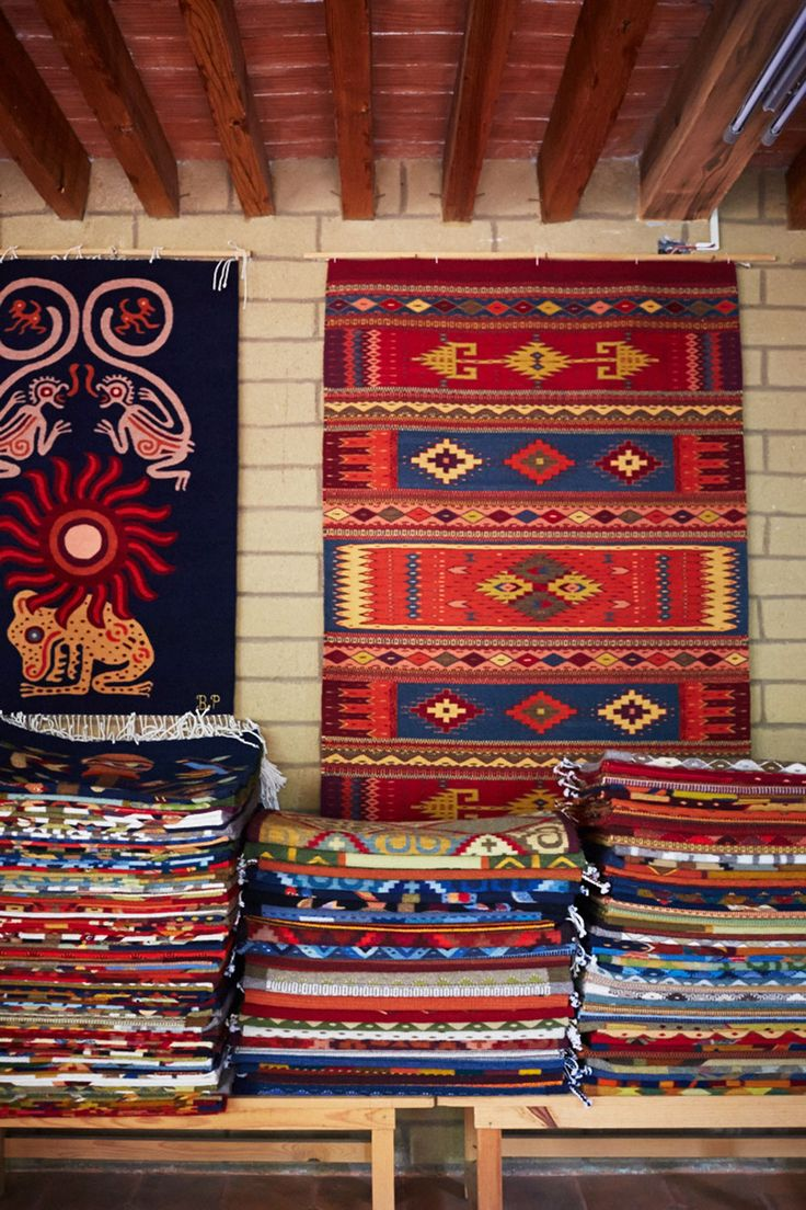 Zapotecan textiles at Bulmaro Perez Mendoza, in Teotitlán del Valle.