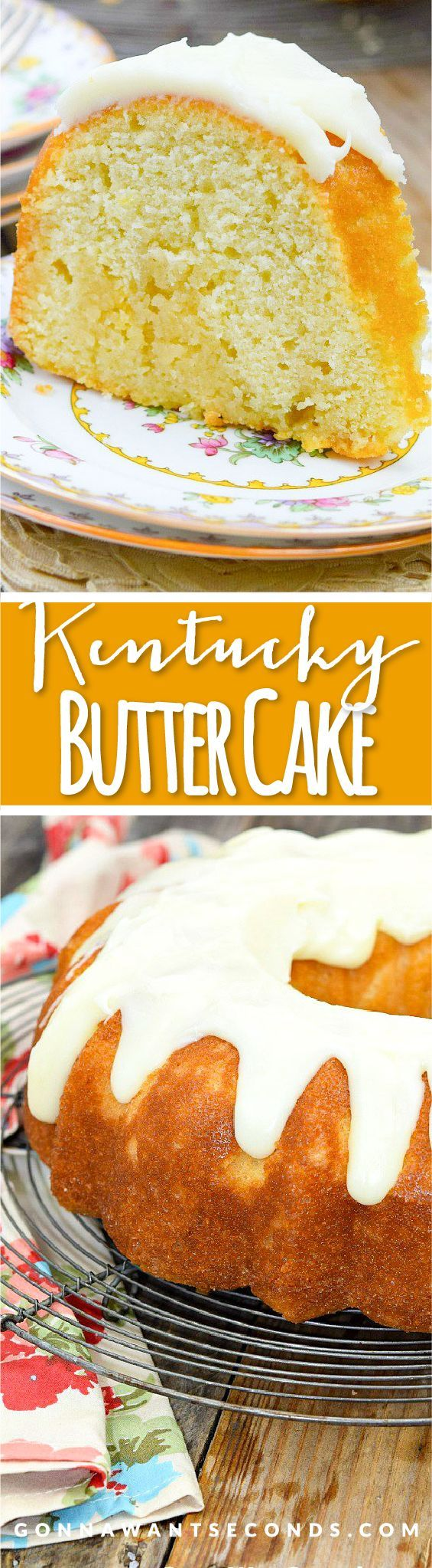 This unique Kentucky Butter Cake is tender, moist and deliciously unique. The cake is soaked with a wonderful Butter Sauce then topped in an amazing Butter Glaze.