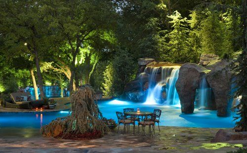 Love imagining this is my backyard.: Caviness Landscape, Swimming Pools, Dream, Landscape Design, Outdoor, Waterfall, Backyard