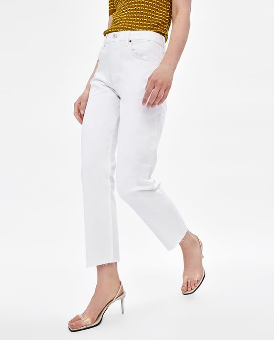 5b4ebe835e Image 2 of NEW STRAIGHT WHITE JEANS from Zara | S/S 2018 | White ...