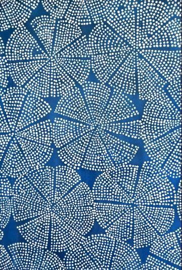 Luli Sanchez - blue dot sea flower #pattern