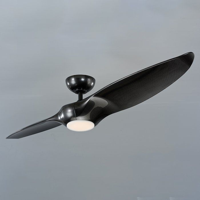 60 Morpheus 2 Blade Outdoor Led Ceiling Fan With Remote Modern Ceiling Fan Ceiling Fan Led Ceiling Fan