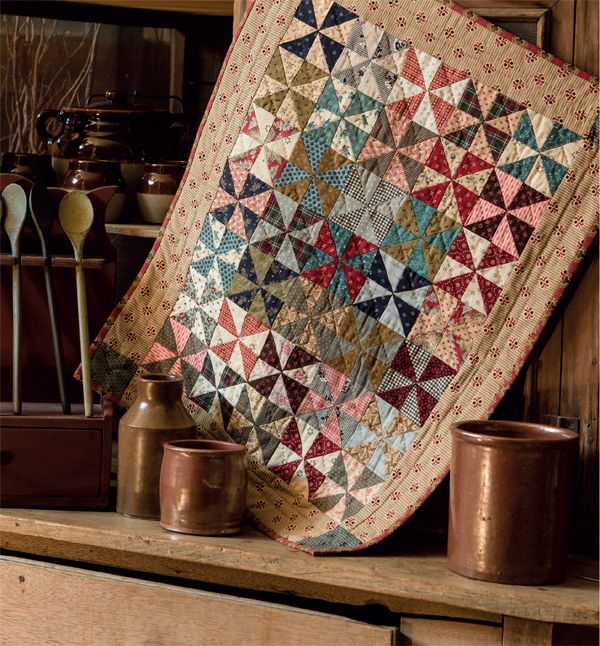 Traditional, sentimental, and oh-sew scrappy - the quilts in the new book Small and Scrappy will whisk you back to an era when time-honored quilt blocks were just making their debut. Click to see more beauties from the book.