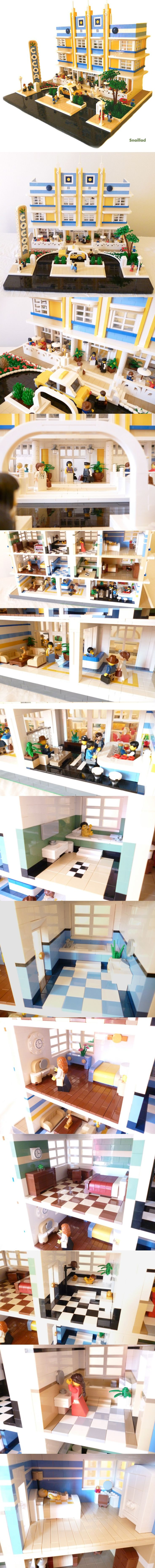 Lego - if it had a small fountain out front it would remind me of Anderson Ocean Club&Resort at Myrtle Beach, SC