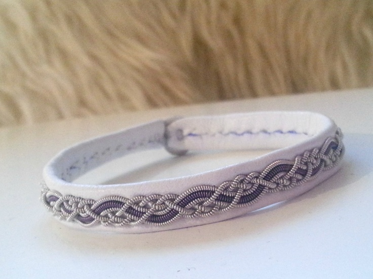 Lapland Sami Bracelet, Reindeer leather, Custom made. $43.00, via Etsy.