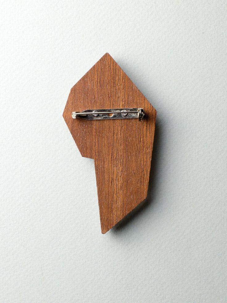 Mirror Flower Brooch - back side #jewelry #design #brooch