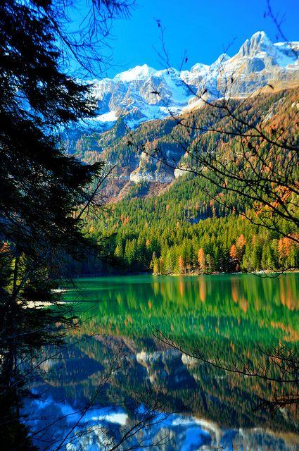 visitheworld:    Autumn reflections at Lago di Tovel / Italy (by Stefano Parmesan). nature
