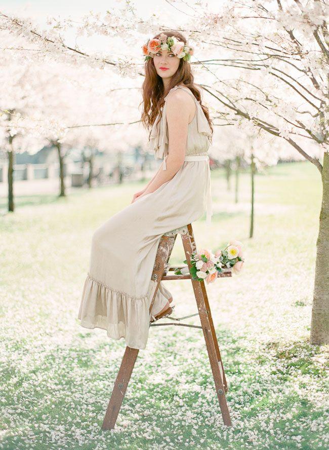 DIY: Spring Flower Crown | Green Wedding Shoes Wedding Blog | Wedding Trends for Stylish + Creative Brides
