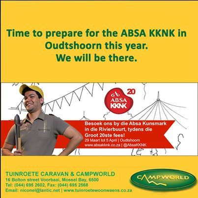 Tuinroete Woonwaens Campworld MB is already preparing for our participation in the KKNK next month. We hope to see you all there. #festivals #market #outdoorlifestyle