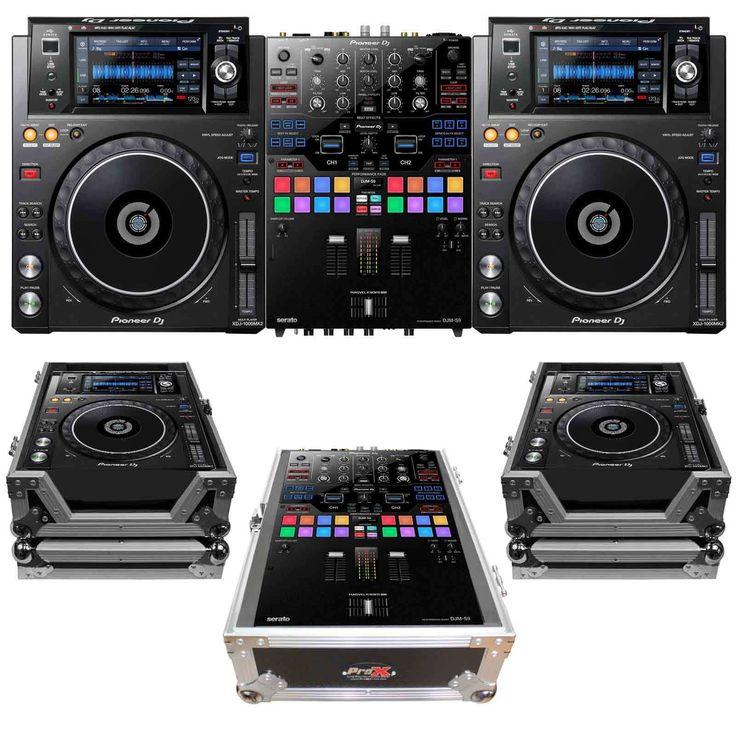 Pioneer DJM-S9 2-Channel DJ Mixer w (2) XDJ-1000MK2 Multi players