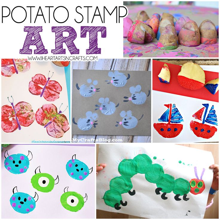 Potato Stamp Art | Easy art projects, Potato print and ...