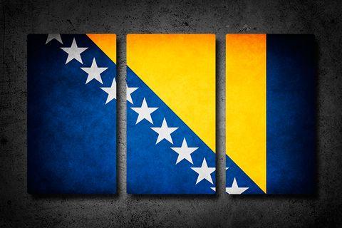 Bosnia and Herzegovina flag wall art