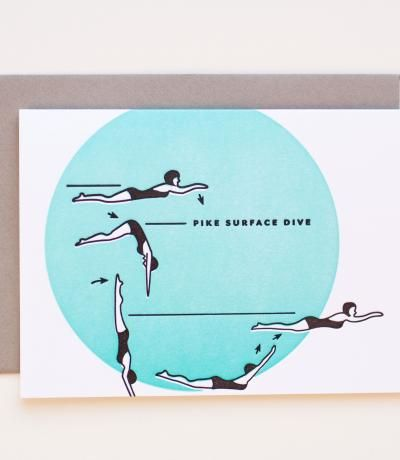 Synchronized Swimmers / Pike Dive | MaeMae Paperie