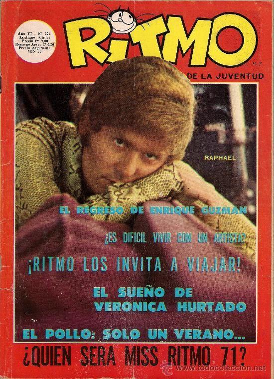 RAPHAEL portada revista chilena RITMO de la juventud 1971 (Música