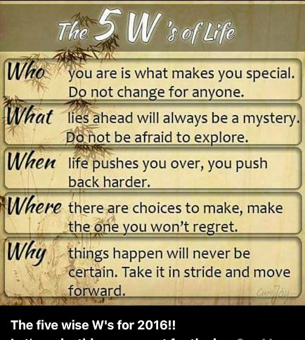 Happy New Year! Here are the 5 W's of life for 2016! heart emoticon #DrPetti