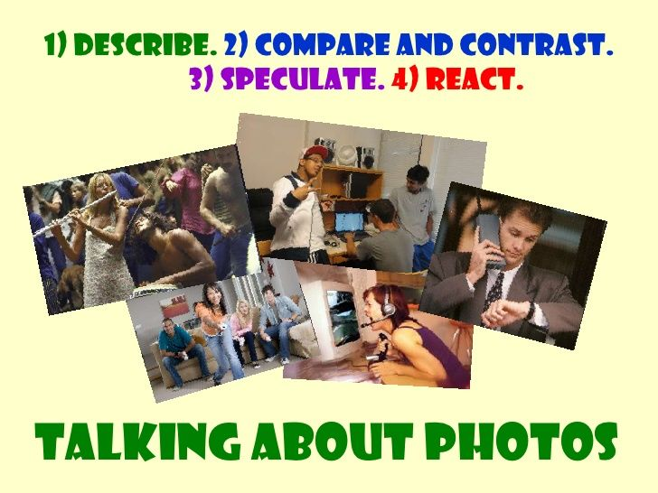 Comparing and Contrasting photos by David Mainwood via slideshare
