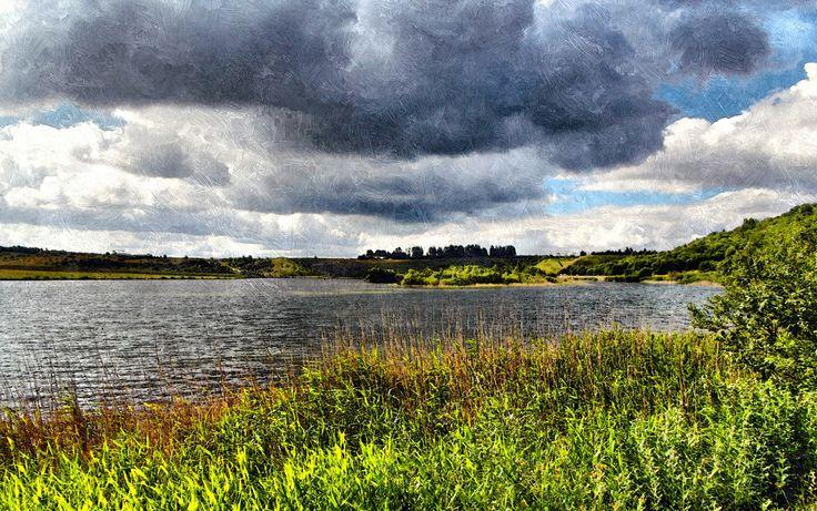 Hedeland: Regnskyer over Flintesøen