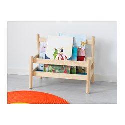 I det här bokstället kan ditt barn samla och nå sina böcker utan din hjälp. Ditt barn kan enkelt hitta sin favoritbok eftersom böckernas framsidor blir synliga. Ni kan enkelt bära med er bokstället till myshörnan när det är dags för sagostund.