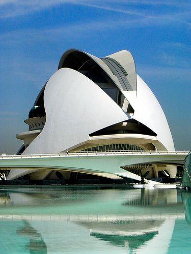 Valencia Opera House Valencia Spain Santiago Calatrava #architecture, https://facebook.com/apps/application.php?id=106186096099420, #bestofpinterest