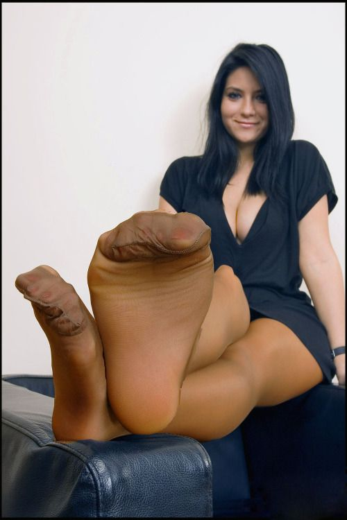 And Tan Pantyhose On Her 75