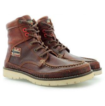 NAPAPIJRI TRYGVE TUMBLED LEATHER MID BROWN 0584480 053 045 - Pánská obuv , Farmářky v Riccardo.pl