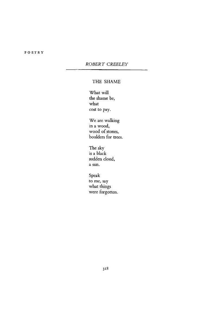 Robert Creeley - February 1966 : Poetry Magazine
