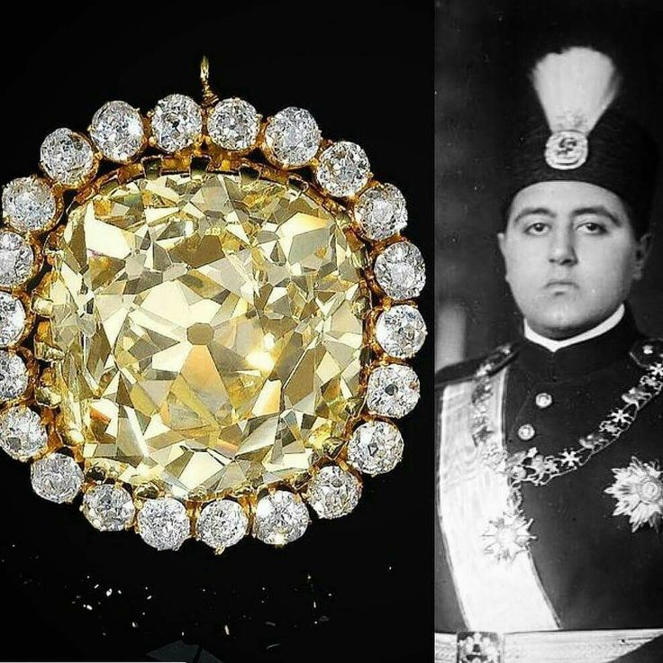 This diamond, weighing 74.53 carats, formed part of the private collection of Sultan Ahmed Shah Qajar, the seventh and last King of the Qajar dynasty of Persia. Willed to his grandchildren and sold by them at Sotheby's in May of 1983, the jewel is a rare vestige of the Persian dynasty's great passion for gemstones. The Sultan often wore it as a head ornament, affixed to an aigrette, as seen here c.1920 Source @fd_gallery #GreatJewelryCollectors #SothebysJewels
