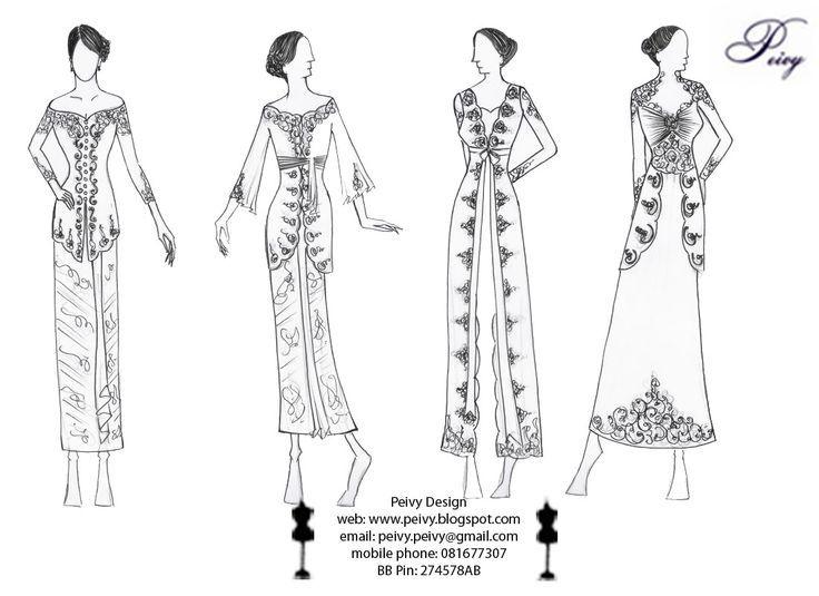 Sketsa Baju Pesta Sederhana