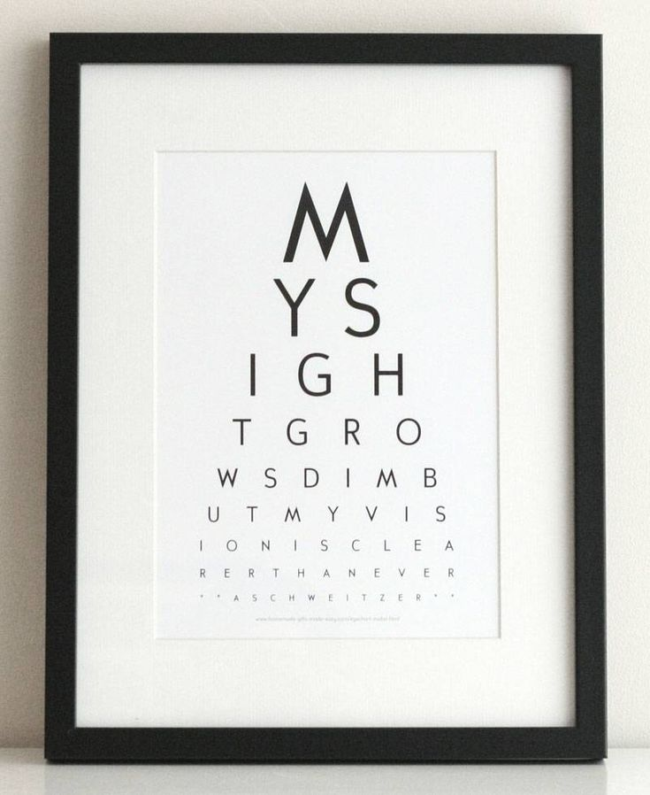 inspirational eye chart art my sight grows dim but my vision is clearer than ever