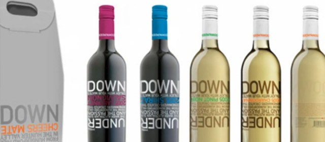 nice use of color and fonts on the dark bottle > GrayRooster: Inspiring Wine Packaging Collection