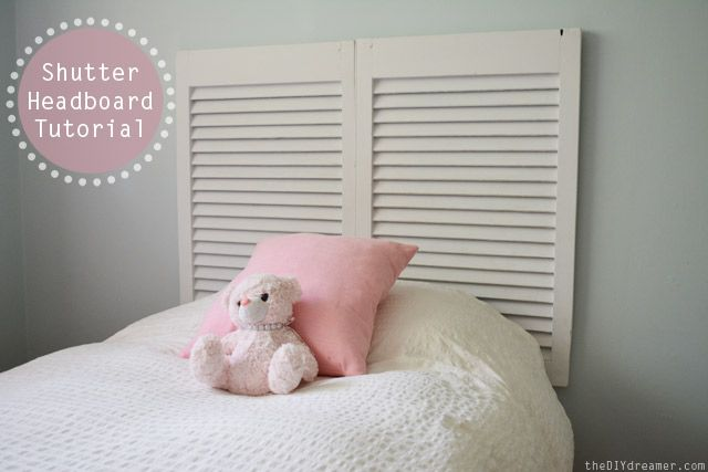 Learn how to make a Shutter Headboard with this Tutorial - theDIYdreamer.com