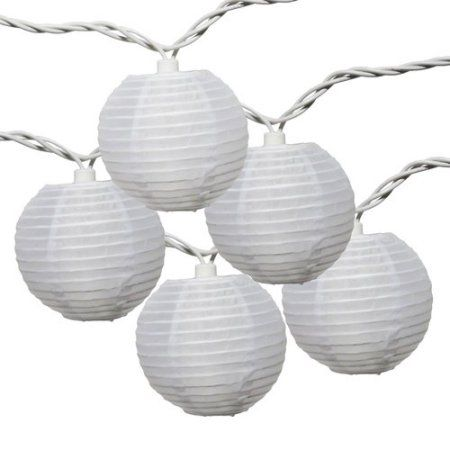 Mainstays 10-Count White Fabric Lantern String Lights - $7.78 also available in multicolor