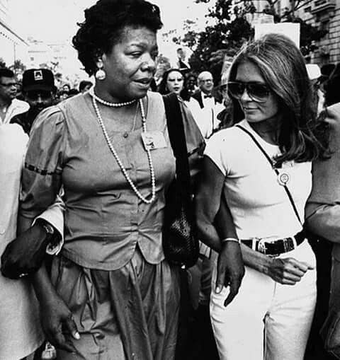 Maya Angelou & Gloria Steinem, 20th anniversary of Civil Rights March on Washington, August 17th, 1983