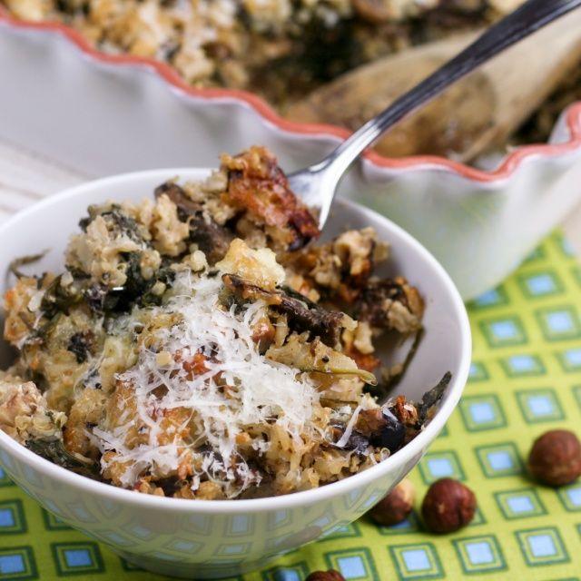 mushroom spinach rice casserole
